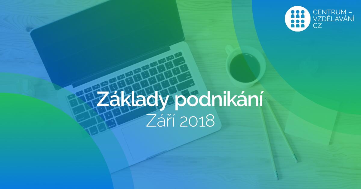 Termíny kurzu Základy podnikání v září 2018